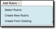 Add rubric dropdown menu