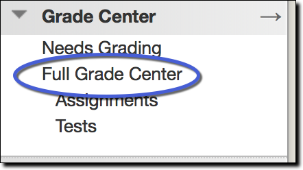 Full Grade option circled