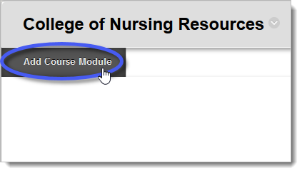 Add Course Module button