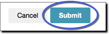 submit button highlighted