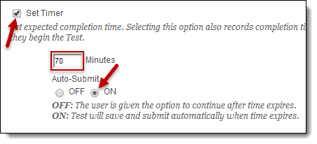 Timer and auto-submit buttons