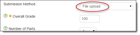 Set File Upload as submission method