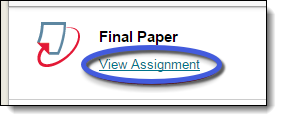 View Assignment link under assignment