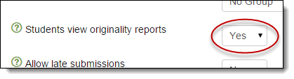 Allow students to view the reports