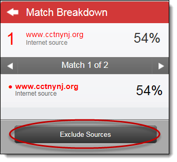 Exclude sources button