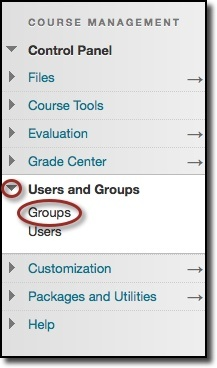 Users and Groups menu item